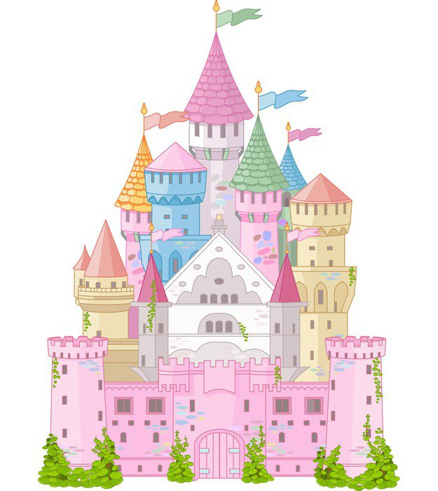 Castle Wall Mural fairy tale castle vinyl wall mural • pixers® • we live to change
