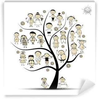 Family tree, relatives, people sketch Wall Mural - Vinyl