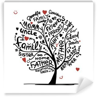 Family tree sketch for your design Wall Mural - Vinyl