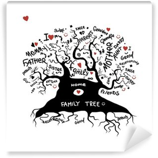 Wall Mural - Vinyl Family tree sketch for your design
