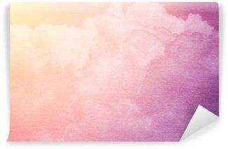 fantasy sky and cloud with pastel gradient color and grunge texture Wall Mural - Vinyl