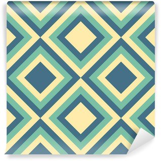 Wall Mural - Vinyl Fashion pattern with squares and stars.