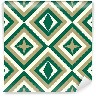 Wall Mural - Vinyl Fashion pattern with squares and stars