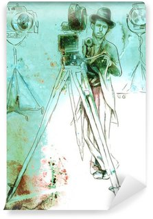 Wall Mural - Vinyl filmmakers: cameraman