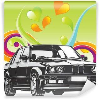 Fine Art BMW car Vinyl Wall Mural