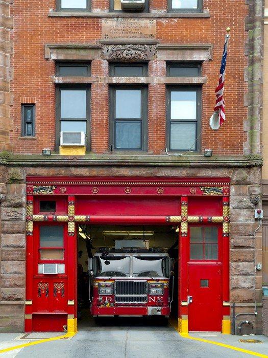 Lovely Wall Mural   Vinyl Fire Station In Manhattan   America Part 11