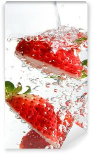 fizzy strawberries Wall Mural - Vinyl