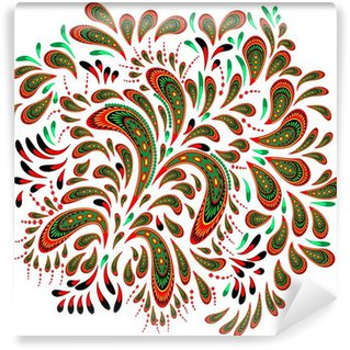 Wall Mural - Vinyl Floral patterned element 2