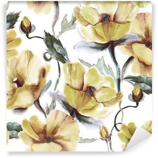Vinyl Wall Mural Floral Seamless Pattern