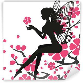 Wall Mural - Vinyl Flower Fairy