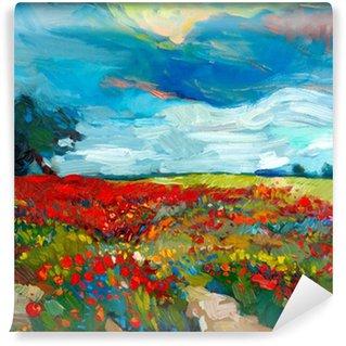 Wall Mural - Vinyl Flower fields