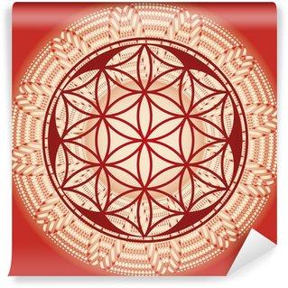 Wall Mural - Vinyl Flower of life seed mandala