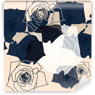 Wall Mural - Vinyl Flower pattern seamless, Eps 10