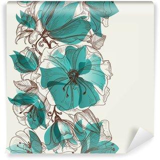Wall Mural - Vinyl Flower seamless pattern vector