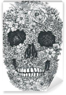 Wall Mural - Vinyl Flower Skull Vector