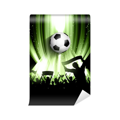 Football crowd background wall mural pixers we live for Audience wall mural