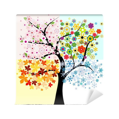Four season tree wall mural pixers we live to change for 4 seasons mural