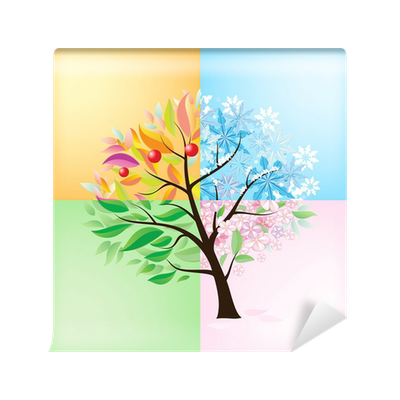 Four seasons tree wall mural pixers we live to change for 4 seasons mural