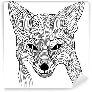 Wall Mural - Vinyl Fox animal sketch symbol