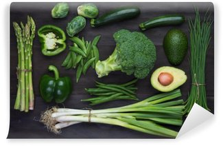 Vinyl Wall Mural Fresh green organic vegetables