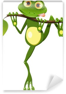 Wall Mural - Vinyl frog on a branch