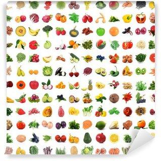 Wall Mural - Vinyl frrutta e verdura full collage