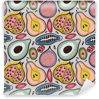 Vinyl Wall Mural Fruits seamless pattern