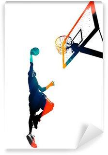 Wall Mural - Vinyl Funky Basketball Slam Dunk