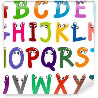 Funny Capital Letters Alphabet Wall Mural - Vinyl