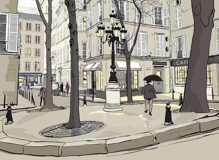Vinyl Wall Mural Furstemberg square in paris - Themes