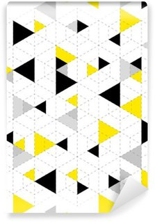 Geometric Pattern Background Wall Mural - Vinyl