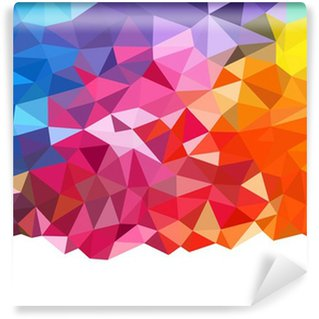Wall Mural - Vinyl Geometric rainbow background