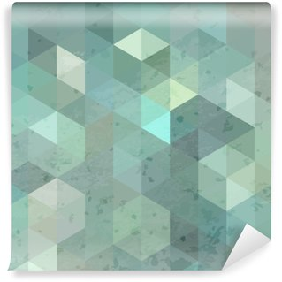 Wall Mural - Vinyl Geometric retro background with grunge texture