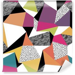 Wall Mural - Vinyl Geometric seamless pattern in retro style. Vintage background. C