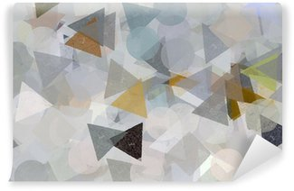 Geometric shapes illustration. Brush paint pattern. Wall Mural - Vinyl