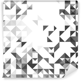 Wall Mural - Vinyl Geometric style abstract white & grey background