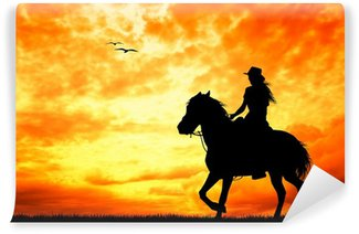 girl on horseback Vinyl Wall Mural