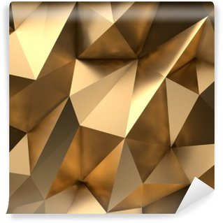 Gold Abstract 3D-Render Background Wall Mural - Vinyl
