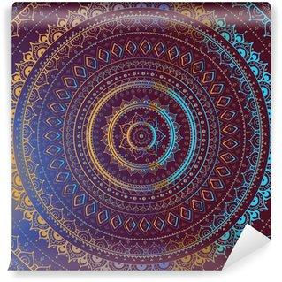 Gold Mandala. Indian decorative pattern. Wall Mural - Vinyl