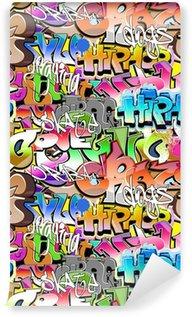 Wall Mural - Vinyl Graffiti seamless background. Urban art texture