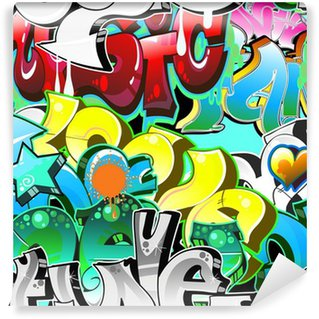 Wall Mural - Vinyl Graffiti Urban Art Background. Seamless design