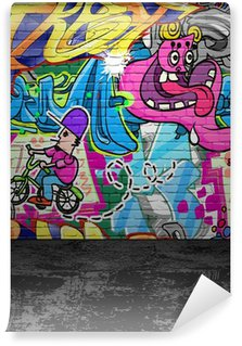 Wall Mural - Vinyl Graffiti wall urban street art painting