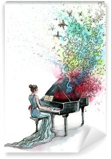 Wall Mural - Vinyl grand piano music (series C)