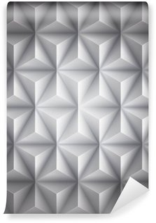 Gray Geometric abstract low-poly paper background. Vector Wall Mural - Vinyl