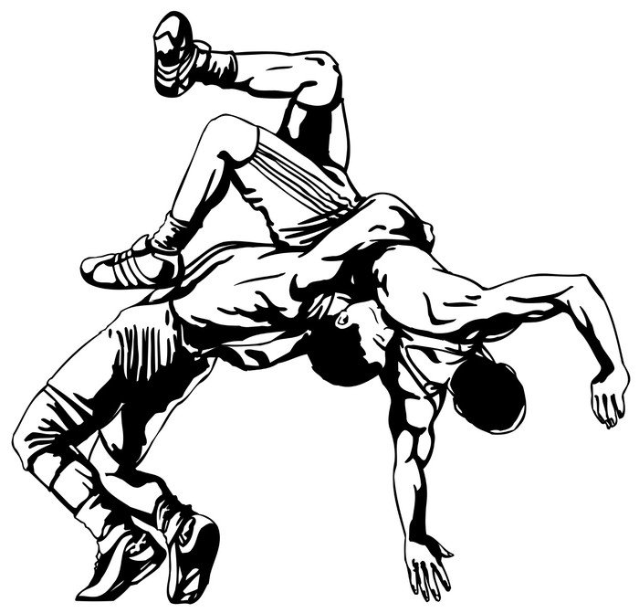 vinyl wall mural greco roman wrestling extreme sports