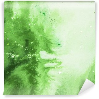 Wall Mural - Vinyl Green abstract art background, texture painting.