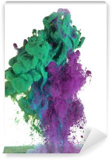 Green and purple paint Wall Mural - Vinyl