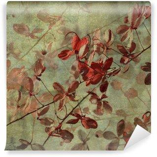 Wall Mural - Vinyl Grunge Antique Flower Background