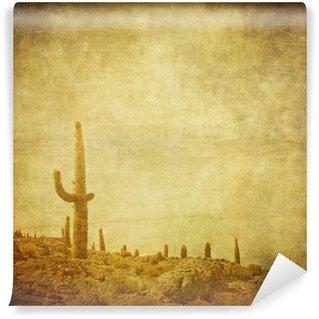 grunge background with wild west landscape. Wall Mural - Vinyl