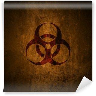 Wall Mural - Vinyl Grunge biohazard symbol.